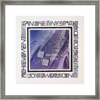 Fan The Sparks Framed Print