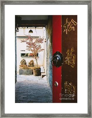 Fangija Hutong In Beijing Framed Print