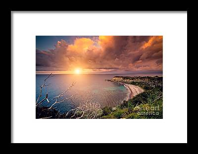 Tropical Cyclone Framed Prints