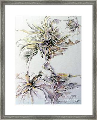 Framed Print featuring the drawing Fantasy by Rosanne Licciardi