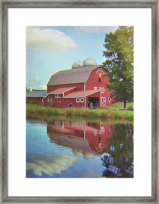 Farm Reflection Framed Print by JAMART Photography