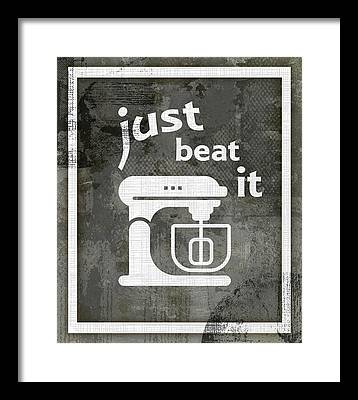 Beat It Framed Prints