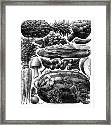 Farmer's Market - Bw Framed Print