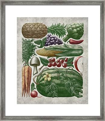 Farmer's Market - Color Framed Print