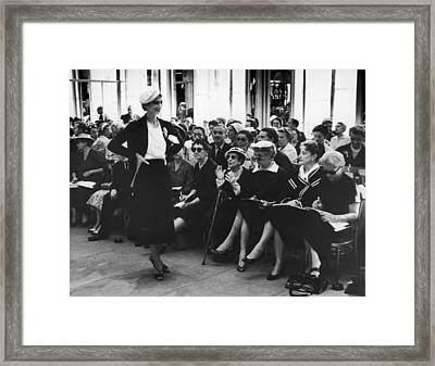 Fashion Journalists Framed Print by John Chillingworth