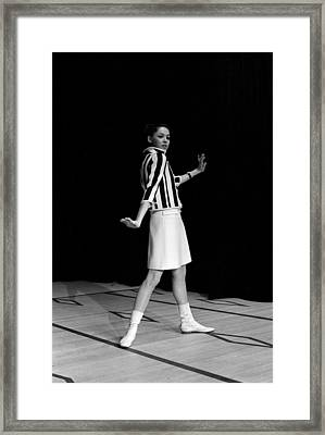 Fashion Mini Dress Courreges In France Framed Print by Reporters Associes