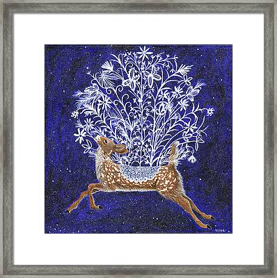 Fawn Bouquet Framed Print