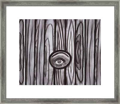 Fear - Eye Through Fence Framed Print