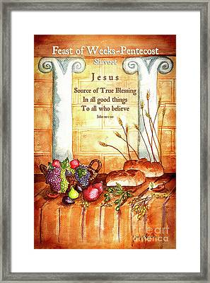Feast Of Weeks - Pentecost Framed Print
