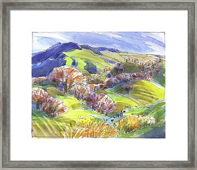 February Landscape With Mount Diablo Framed Print