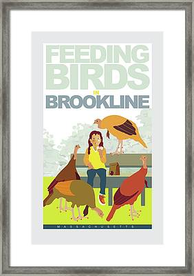 Feeding The Birds Framed Print