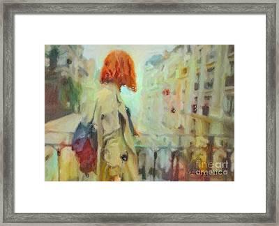 Feel The Rain Framed Print