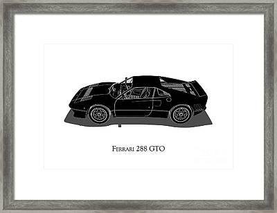 Ferrari 288 Gto - Side View Framed Print