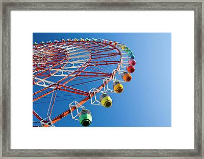 Ferris Wheel Framed Print by St Yeo