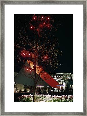 Festival Lights Framed Print by Raymond Kleboe