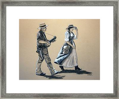 Fiddler's Daughter Framed Print