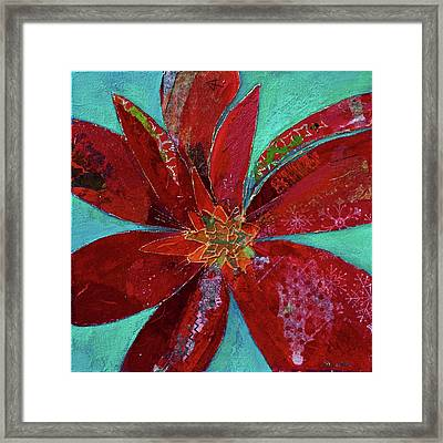Fiery Bromeliad I Framed Print