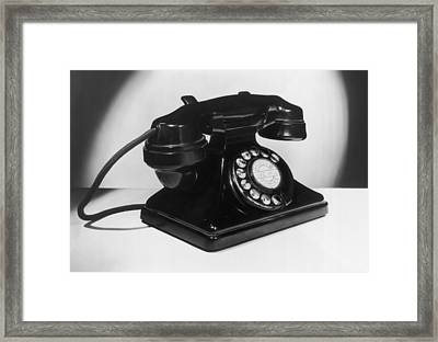 Fifties Telephone Framed Print by Fox Photos