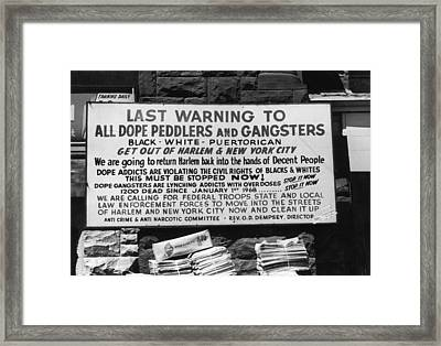 Final Notice Framed Print by Leo Vals