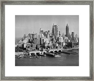 Financial District Cityscape Framed Print by Fpg