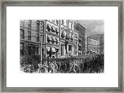 Financial Panic Framed Print by Kean Collection