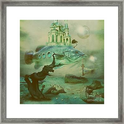 Framed Print featuring the digital art Finding Captain Nemo by Alexa Szlavics
