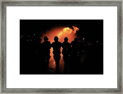 Framed Print featuring the photograph Fire Dragon by Ron Chilston