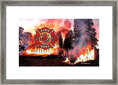 Fire Fighting 3 Framed Print