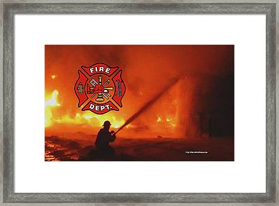 Fire Fighting 5 Framed Print
