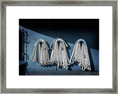 Fire Hoses Framed Print