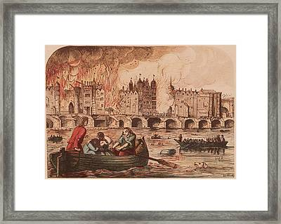 Fire Of London Framed Print by Hulton Archive