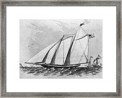 First Americas Cup Framed Print by Hulton Archive