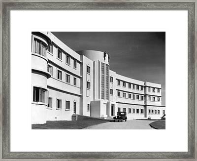 First Art Deco Hotel Framed Print by Herbert Felton