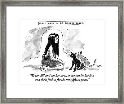 First Cats To Be Domesticated Framed Print