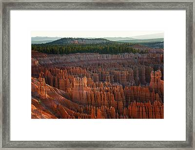 First Light On The Hoodoo Inspiration Point Bryce Canyon National Park Framed Print