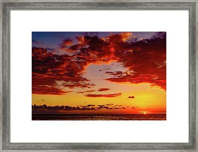 First November Sunset Framed Print