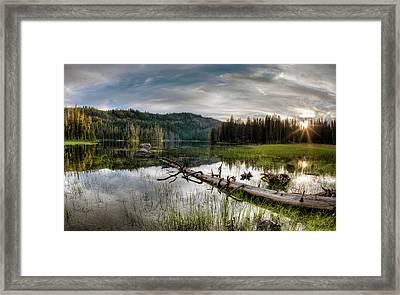 Fish Lake Evening Framed Print by Leland D Howard