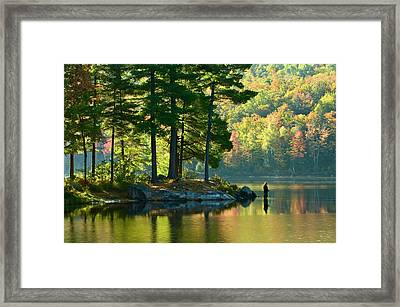 Fisherman In Early Morning, Lac Taylor Framed Print