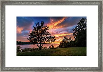 Fishing At End Of Day Framed Print