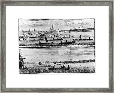 Fishing Canoes Framed Print by Fotosearch