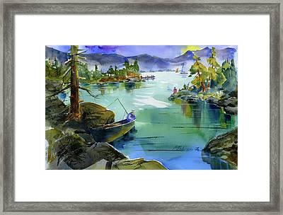 Fishing Lake Tahoe Framed Print