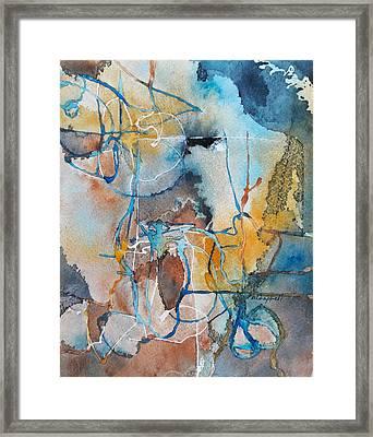 Fissures Framed Print