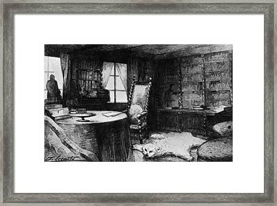 Flauberts Study Framed Print by Hulton Archive