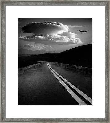 Framed Print featuring the photograph Flight Path by John Rodrigues