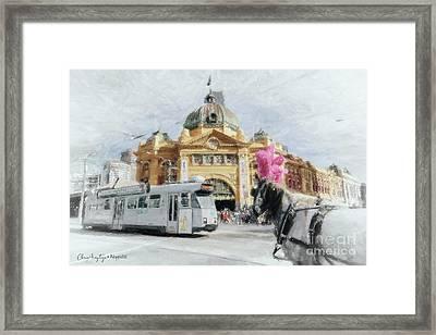 Flinders Street Station, Melbourne Framed Print