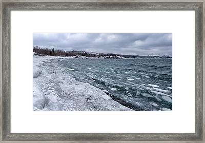 Floating Ice Framed Print