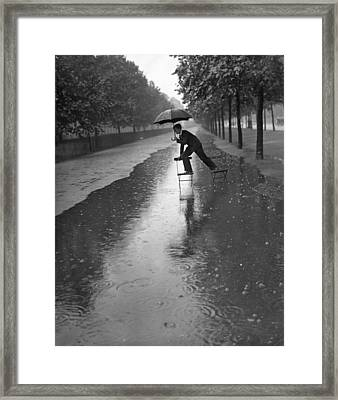 Flooded Mall Framed Print by H. F. Davis