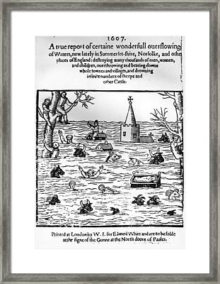 Flooding In England Framed Print by Hulton Archive