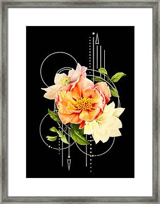 Framed Print featuring the digital art Floral Abstraction by Bee-Bee Deigner