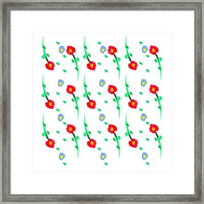 Framed Print featuring the painting Floral Pattern by Bee-Bee Deigner
